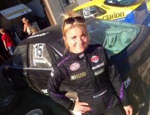 Ramona tävlade i folkrace med Per Eklund och Myggan
