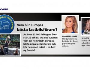 (Svenska) Ramona utser Europas bästa lastbilschaufför tillsammans med Scania
